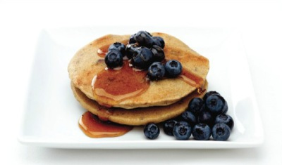 buckwheat pancakes with blueberries