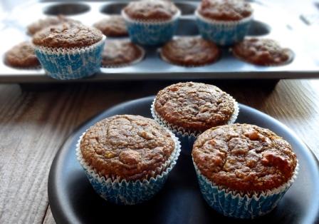 Pimpkin Chocolate Buckwheat Muffins from veggiesandgin.com