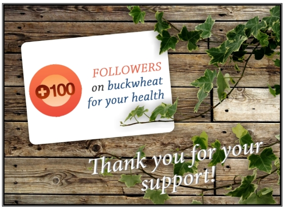 100 followers on buckwheat for your health