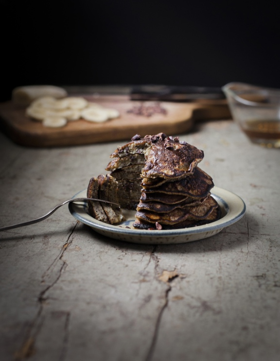 Banana Buckwheat Pancakes with Cacao Nibs 2_www.reclaimingprovincial.com