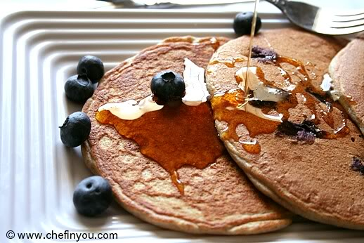 blueberry buckwheat pancake recipe