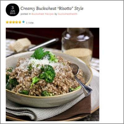 creamy buckwheat risotto style