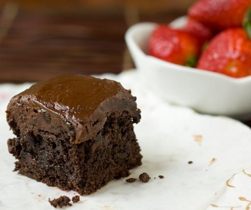 Dark Chocolate Buckwheat Brownies with Nutella Ganache 2