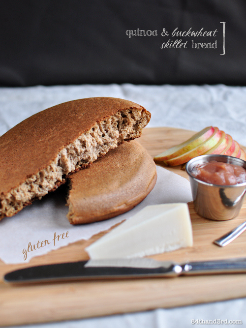 Quinoa & Buckwheat Skillet Bread