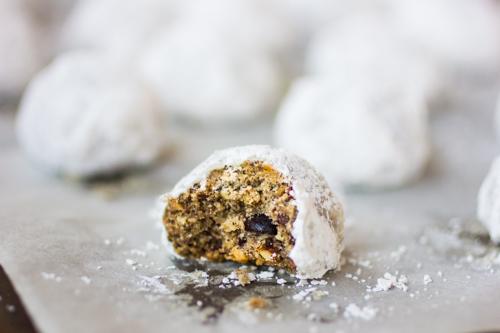 buckwheat cacao nib snowball cookies pan_www.bojongourmet.com