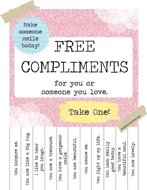 Free Positive Thoughts & Compliments For U. Please Take One! (2/2)