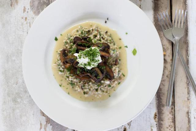Mushroom Buckwheat Risotto from jessicacox.com.au