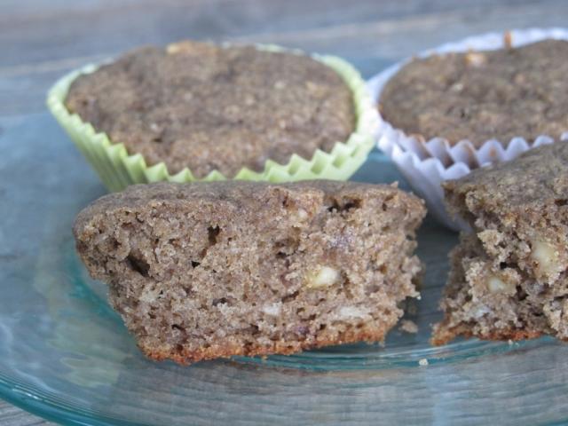 Buckwheat Banana-Walnut Muffins from superfoodista.com