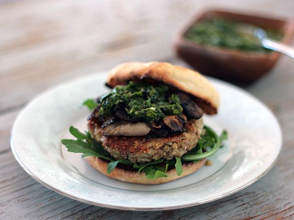 Buckwheat Feta Burgers with Parsley Sauce from tastespotting.com_1