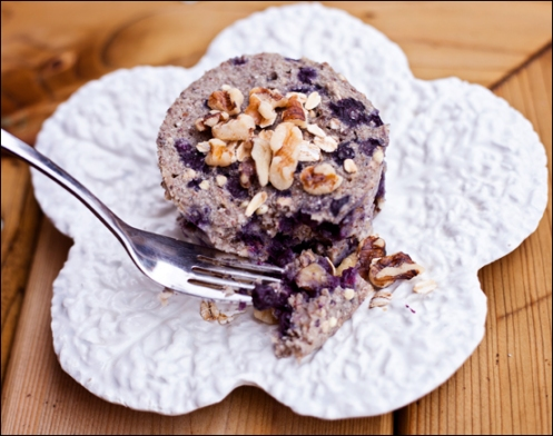 Vegan Gluten Free Blueberry Walnut Buckwheat Breakfast Bake from calmmindbusybody.com