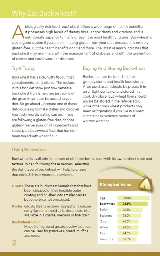Why choose buckwheat