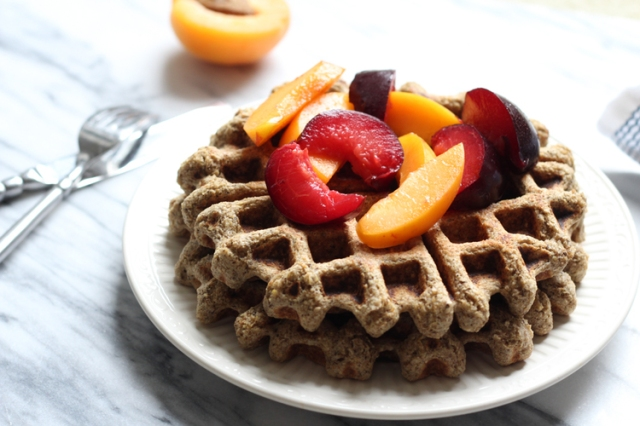 Buckwheat-Oat Waffles from feedtheloveblog.com