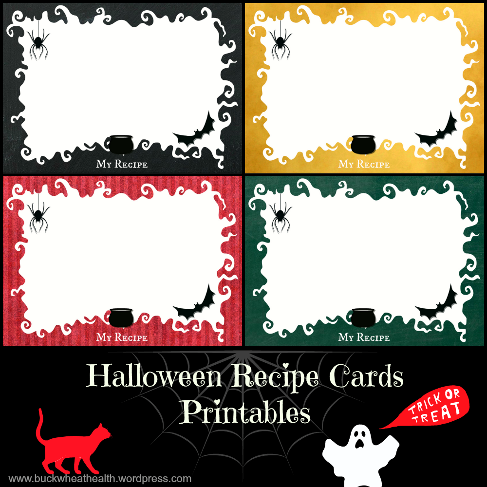 free halloween recipe cards printables