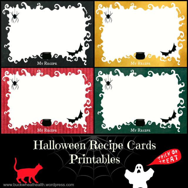 Free Halloween Recipe Card Printables  from buckwheathealth.wordpress.com