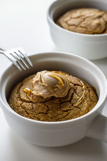 Pumpkin Buckwheat Bake for Two from edibleperspective.com