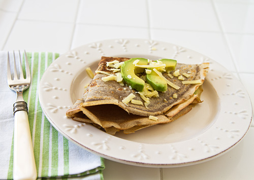 Buckwheat Crêpes with Avocado from lafujimama.com