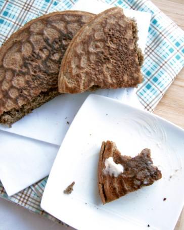 quinoa buckwheat skillet bread bite2