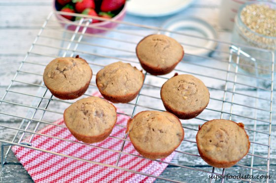 Buckwheat Banana Walnut Muffin from superfoodista.com
