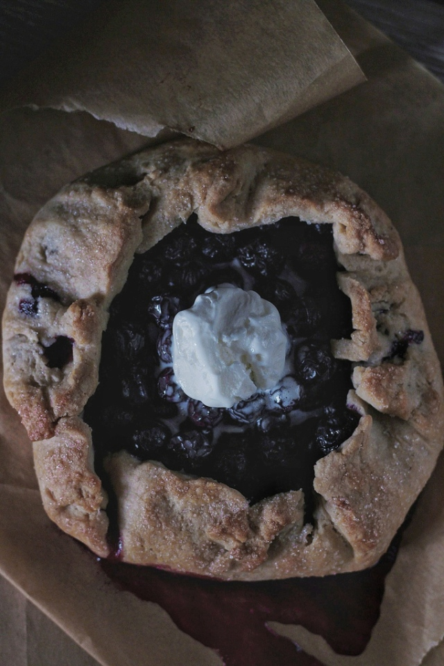 BLUEBERRY BUCKWHEAT GALETTE
